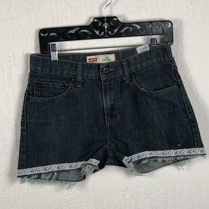 Levi's cut off Jeans Size 18Y